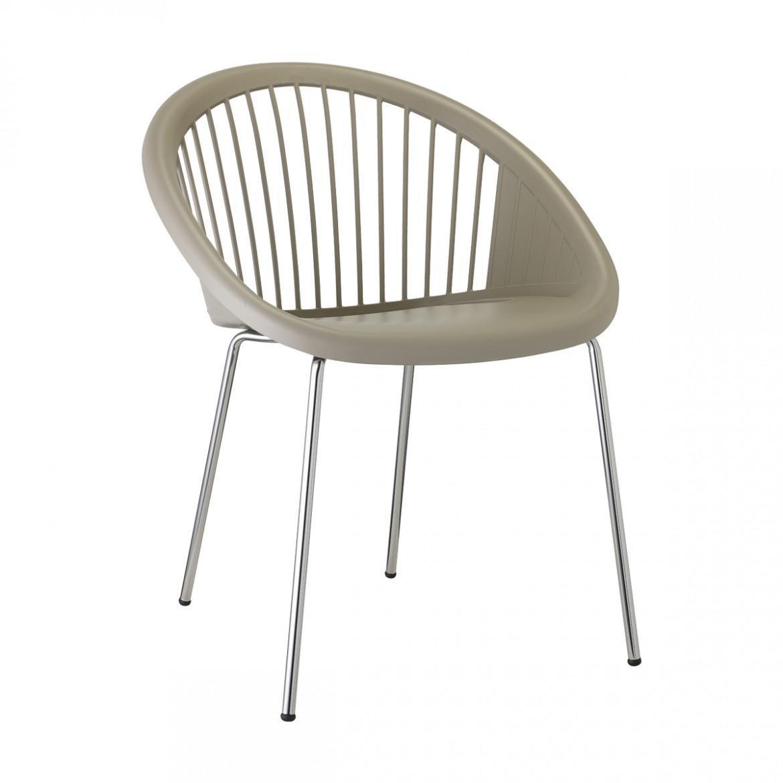 Кресло пластиковое Giulia chromed frame