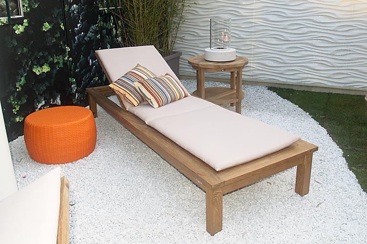 Шезлонг-лежак деревянный Sunseeker