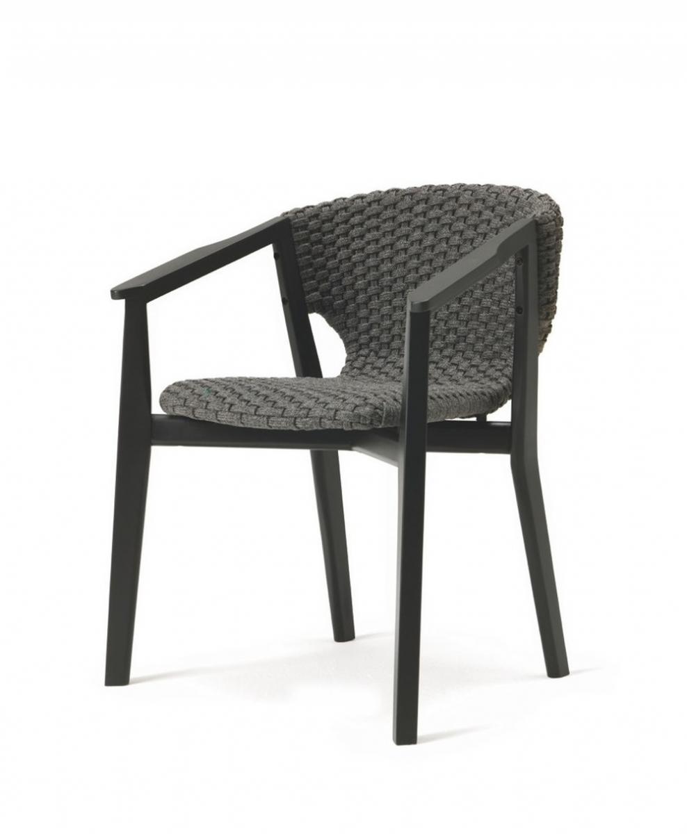 Кресло деревянное с обивкой Knit