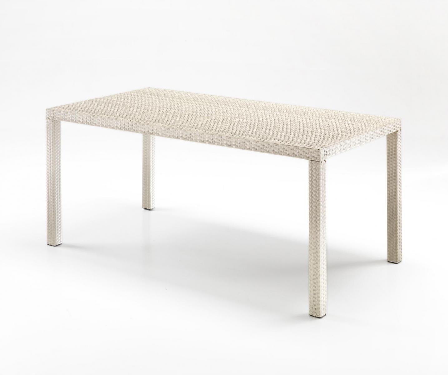 Стол плетеный со стеклом Contract
