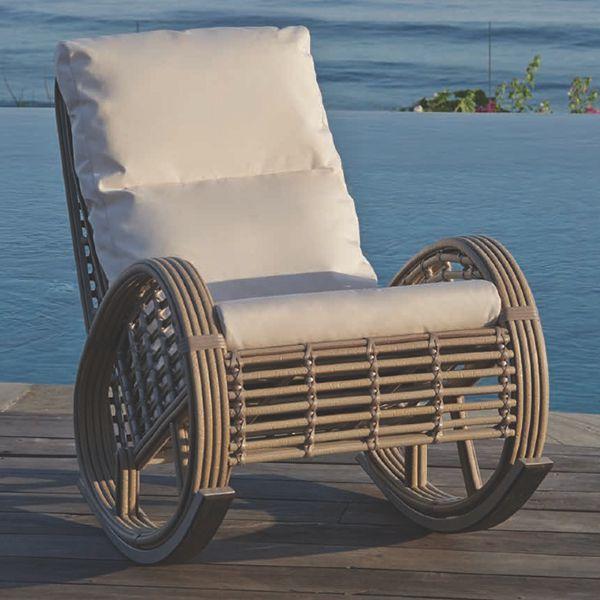 Кресло-качалка плетеное Dynasty/Castries