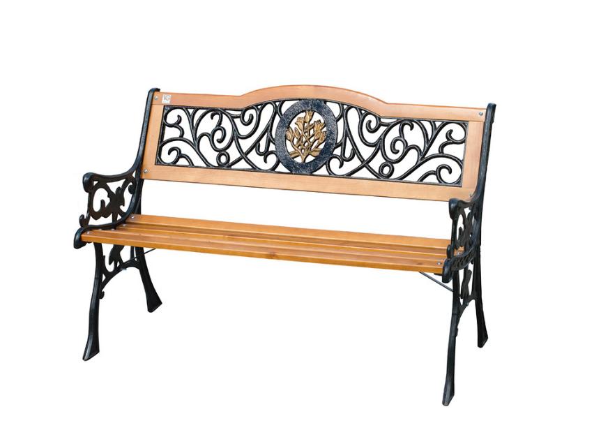Скамейка садовая деревянная Лилия