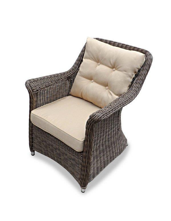Кресло плетеное с подушкой Opal