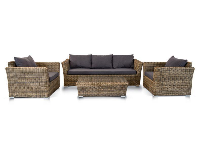 Комплект плетеной мебели Капучино