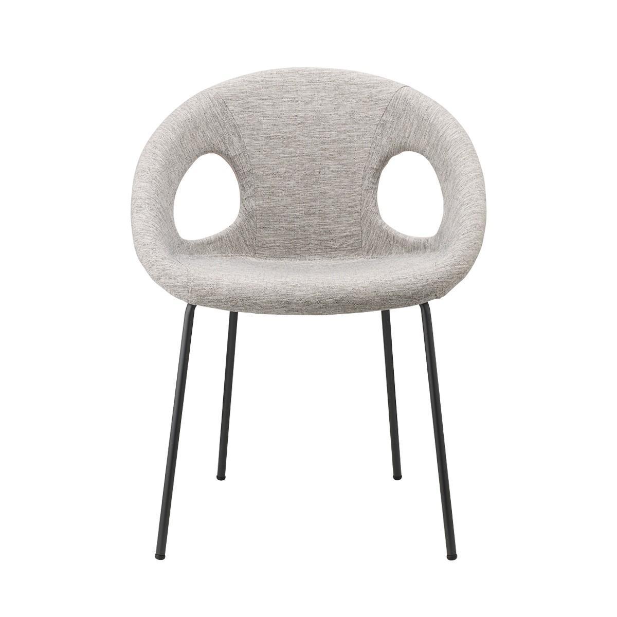Кресло пластиковое с обивкой Drop Pop chromed steel frame