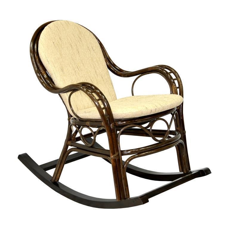 Кресло-качалка плетеное с подушкой Marisa