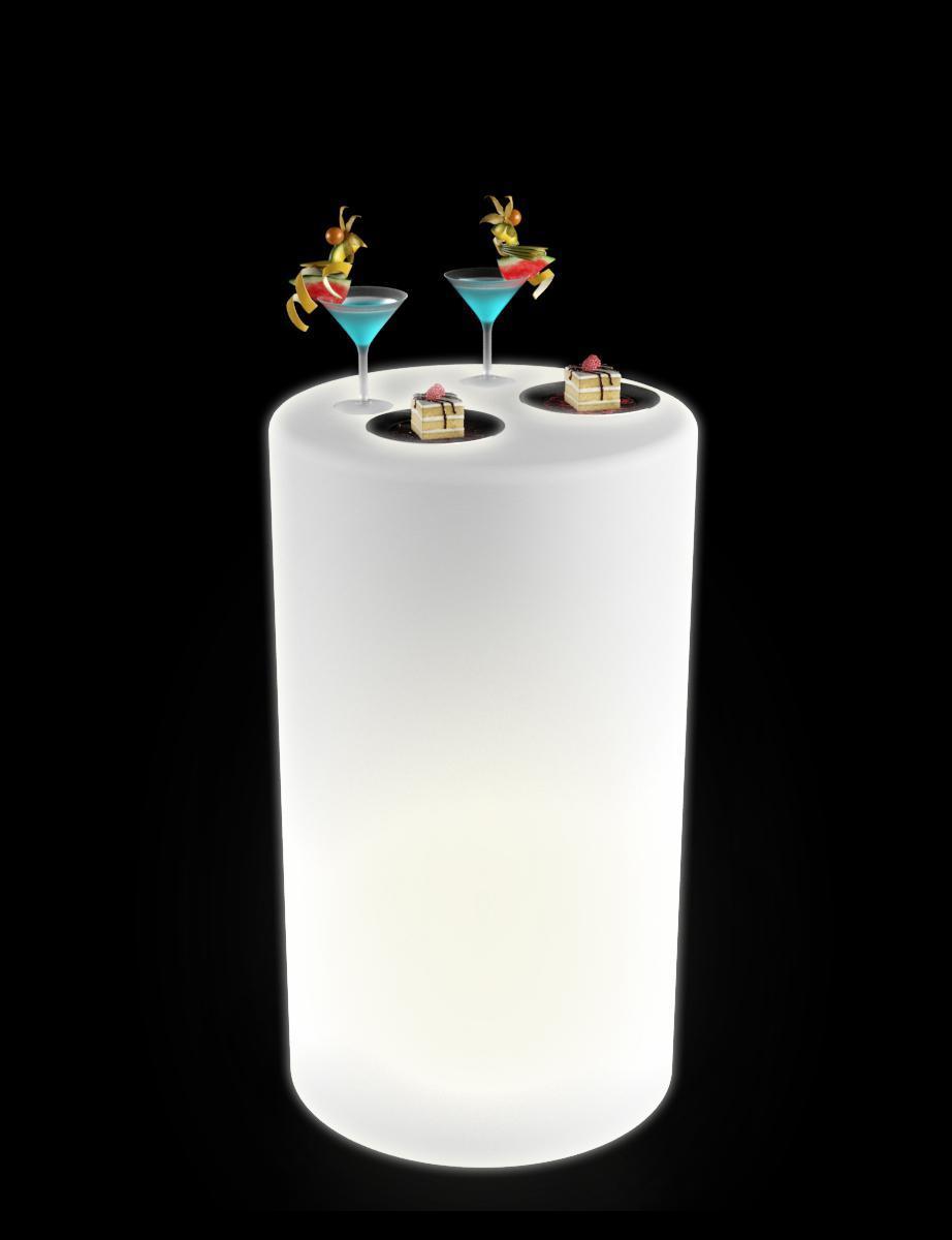 Стол пластиковый фуршетный светящийся Alto