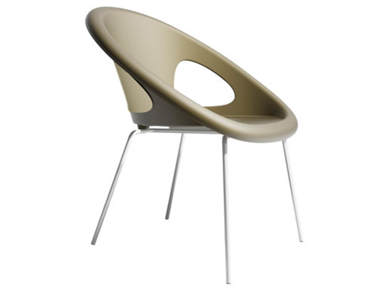 Кресло пластиковое Drop 4 legs coated frame