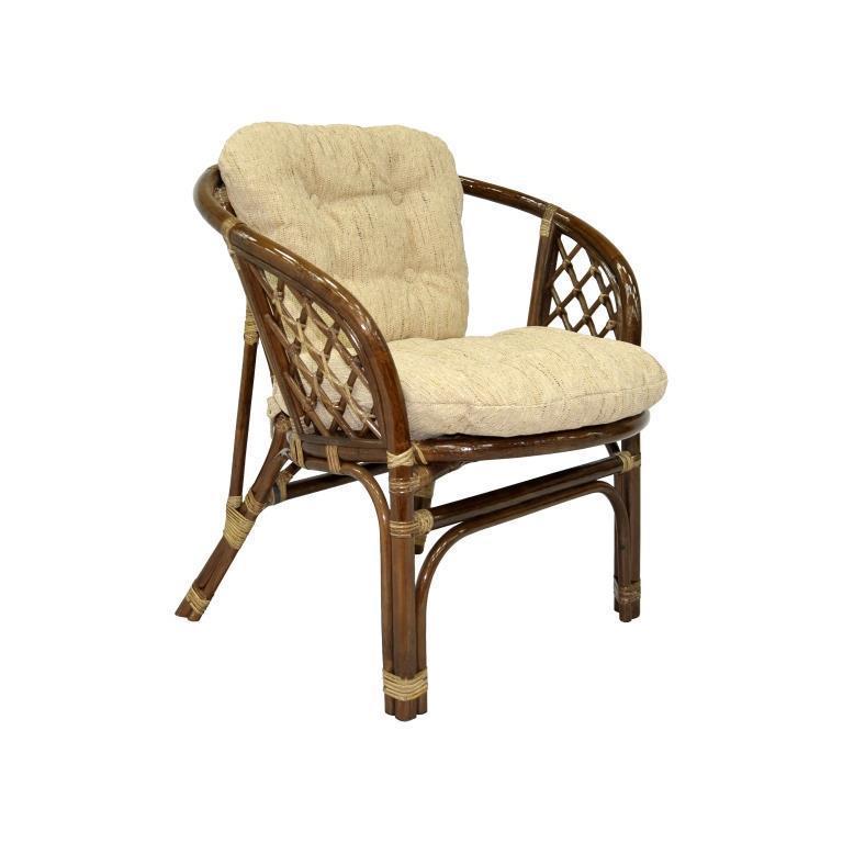 Кресло плетеное с подушками Багама