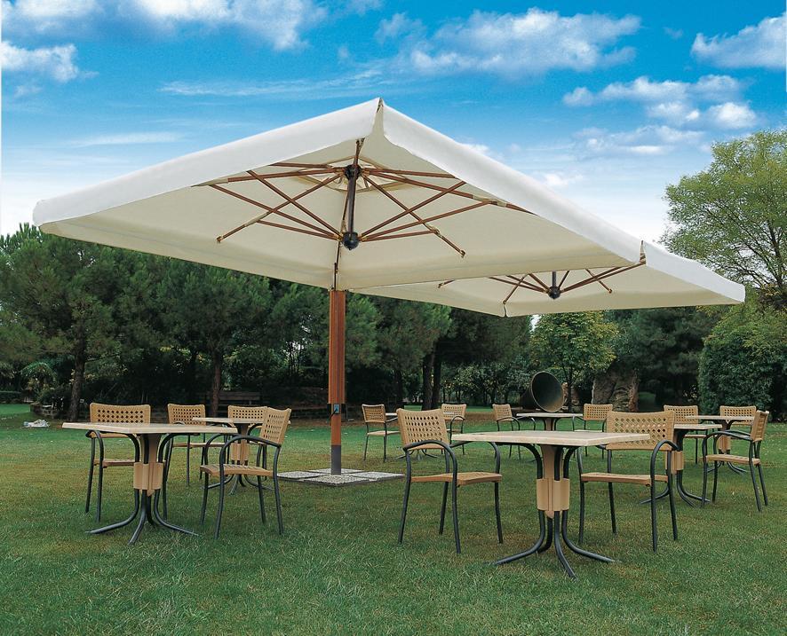 Зонт профессиональный двухкупольный Wood Double