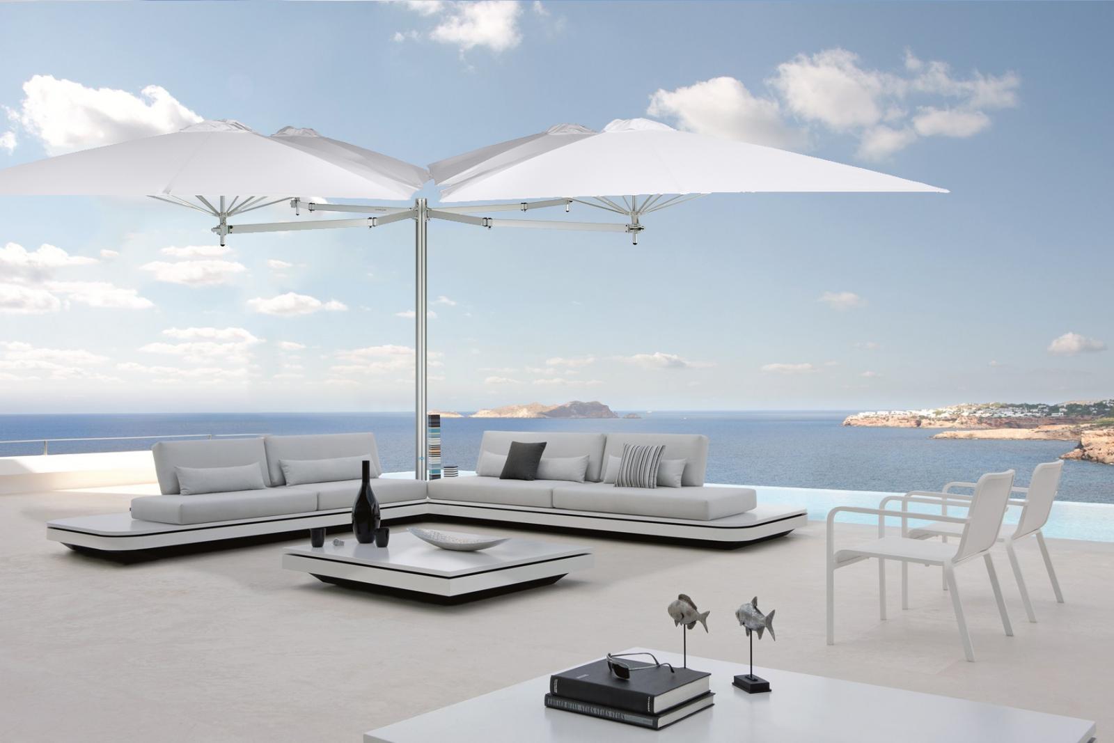 Зонт профессиональный четырехкупольный Multiflex Paraflex