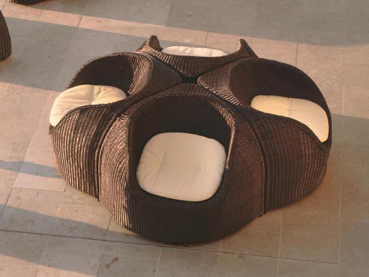 Кресло плетеное с подушкой Coconut