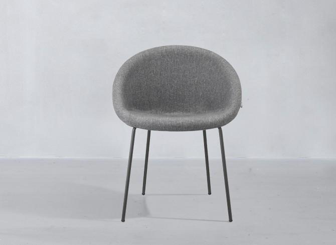 Кресло пластиковое мягкое Giulia Pop coated steel frame