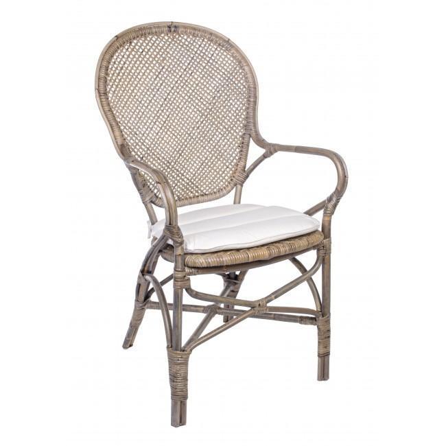 Кресло плетеное с подушкой Edelina