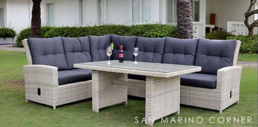 Угловой комплект плетеной мебели San Marino