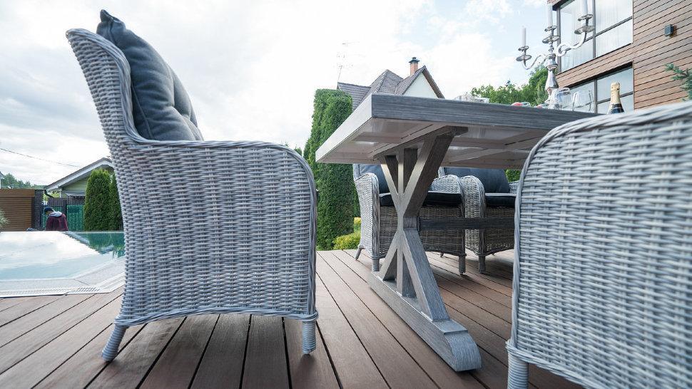 Кресло плетеное с подушками Бергамо