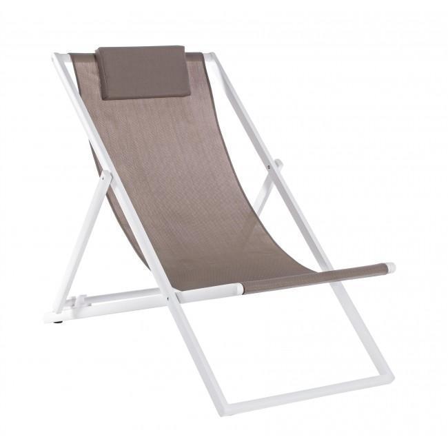 Кресло-шезлонг металлическое текстиленовое Taylor