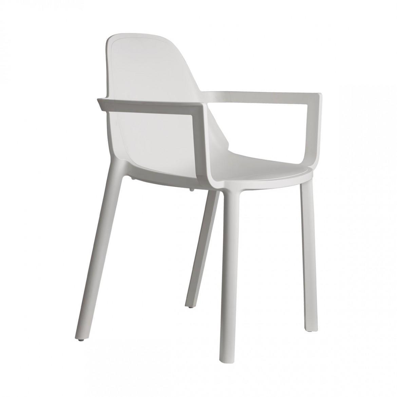 Кресло пластиковое Piu with armrests