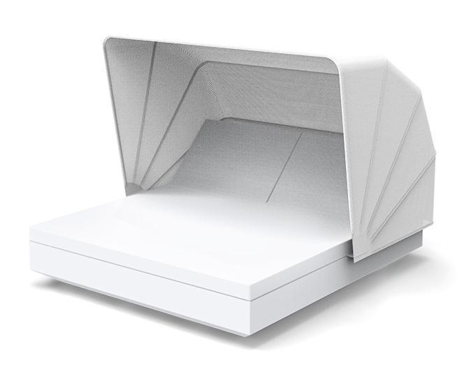 Лежак пластиковый с козырьком Vela 2 reclining backrest square Basic