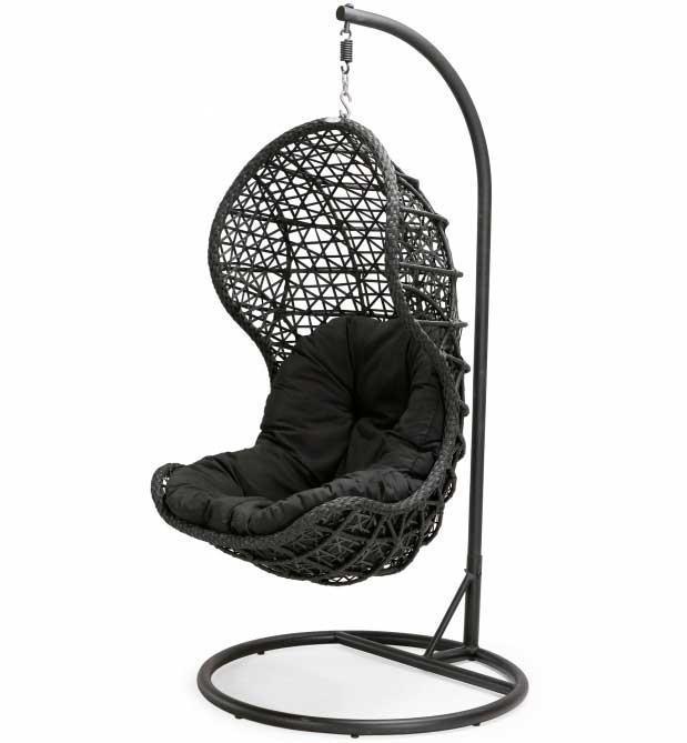 Кресло плетеное подвесное Cand Black