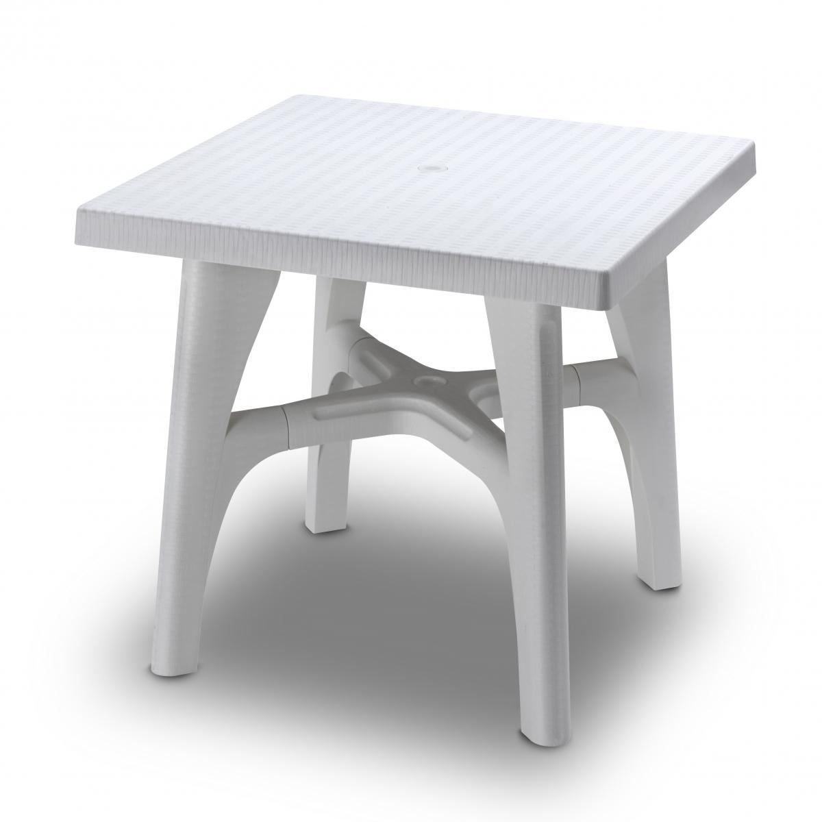 Стол пластиковый обеденный Intrecciato 80