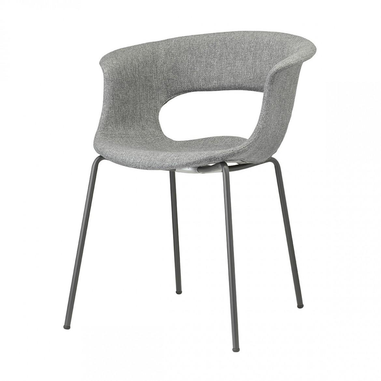 Кресло пластиковое с обивкой Miss B Pop coated steel frame