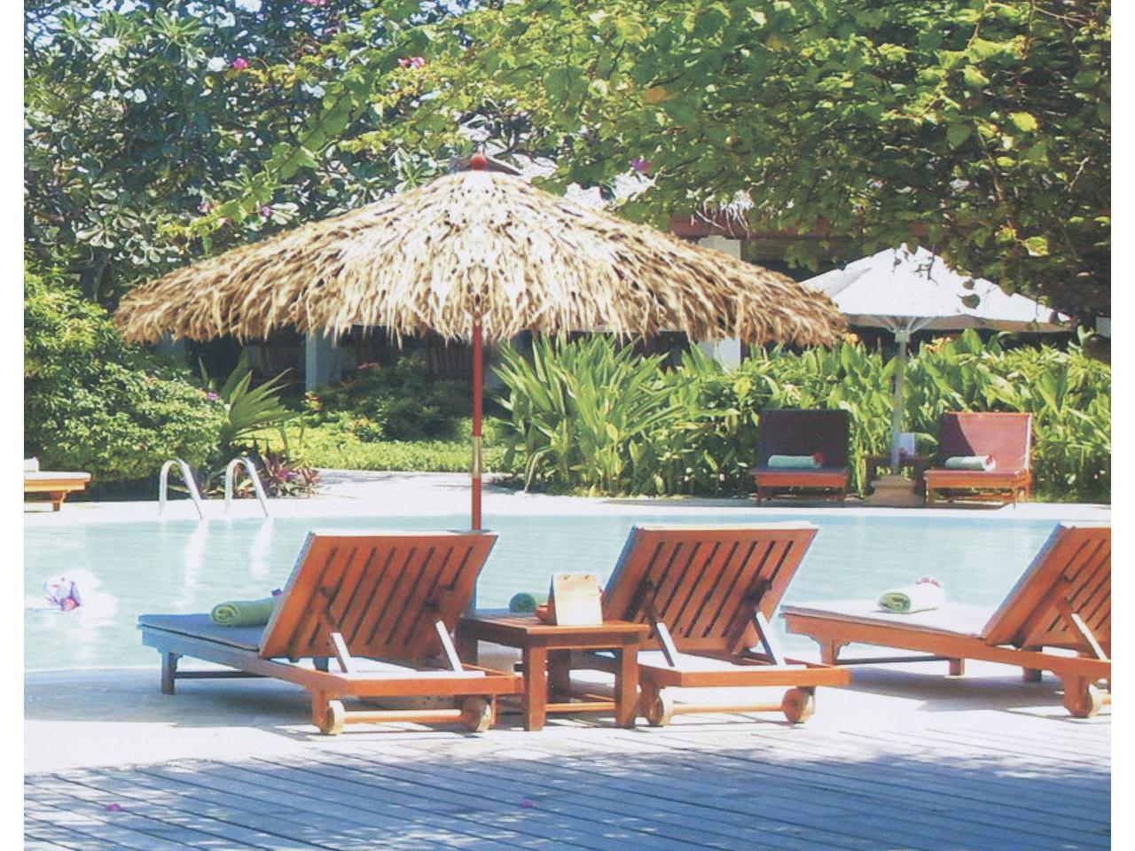 Зонт пляжный соломенный 9FT Африка