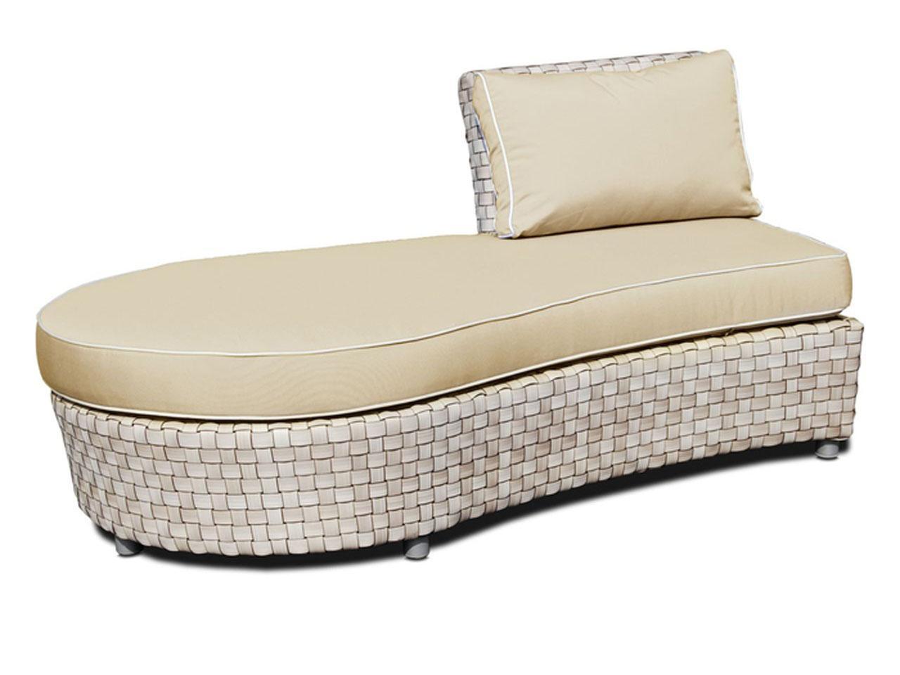 Плетеный правый диван-оттоман Florence