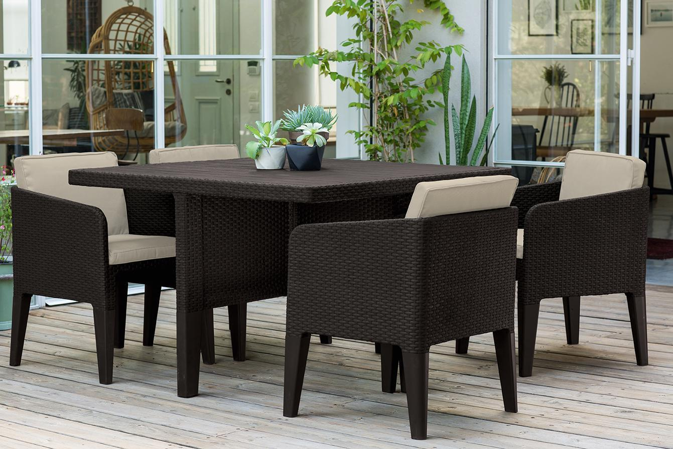 Комплект пластиковой мебели Columbia set 5 pcs