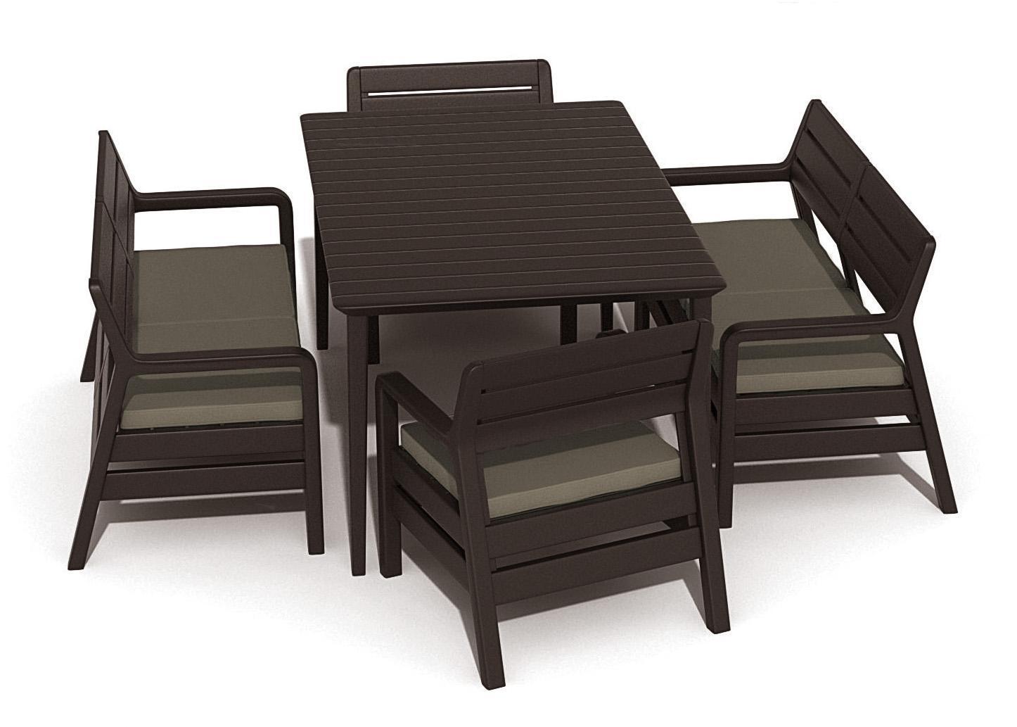 Комплект пластиковой мебели Delano set with Lima table 160