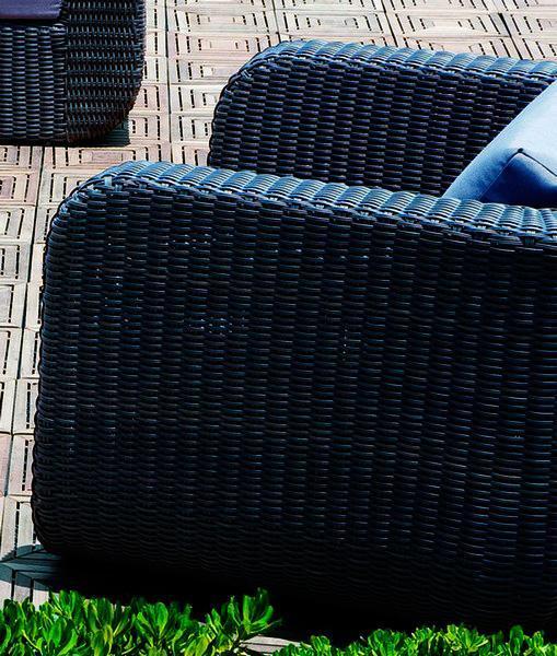 Кресло плетеное с подушками Stockholm