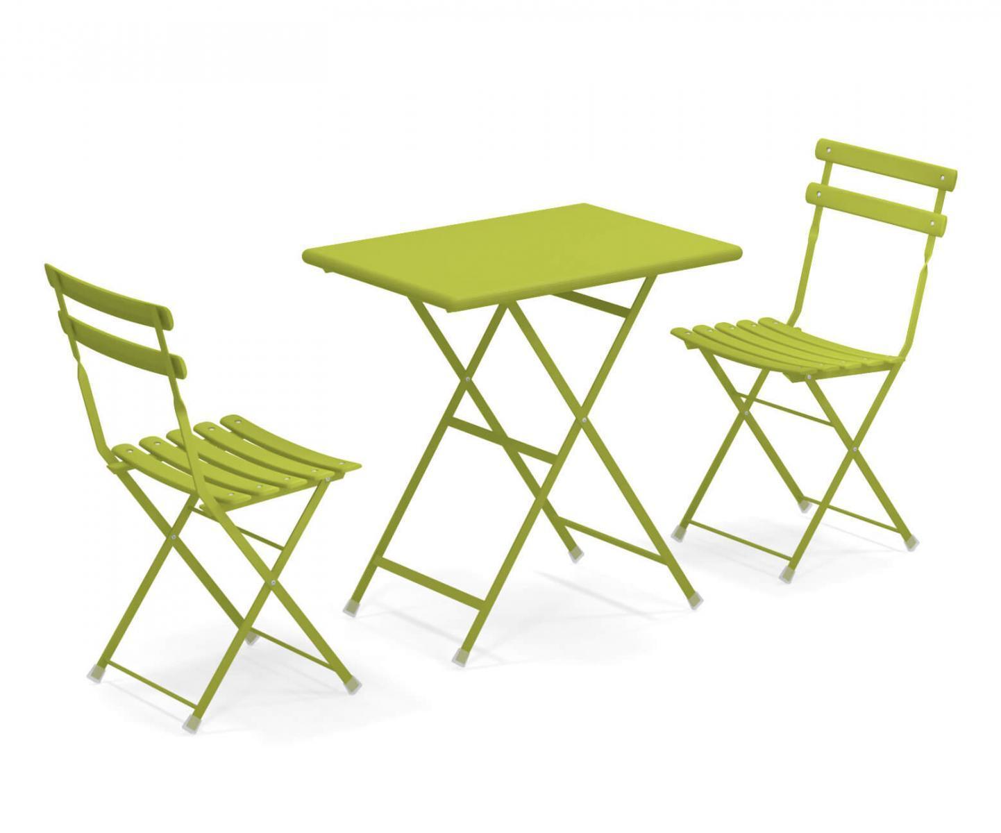 Комплект металлической складной мебели Arc en Ciel