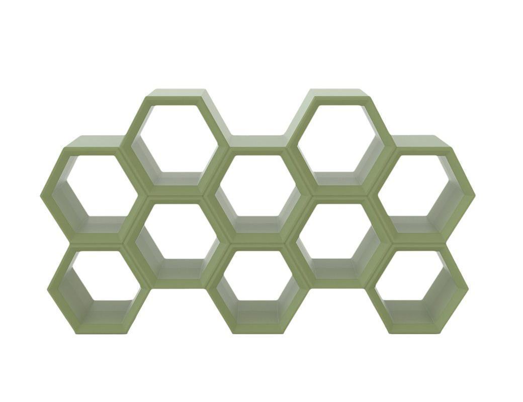 Пластиковый модульный книжный шкаф Hexa Standart