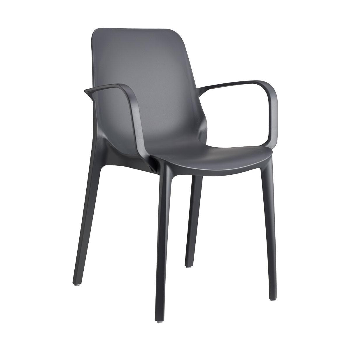 Кресло пластиковое Ginevra with armrests