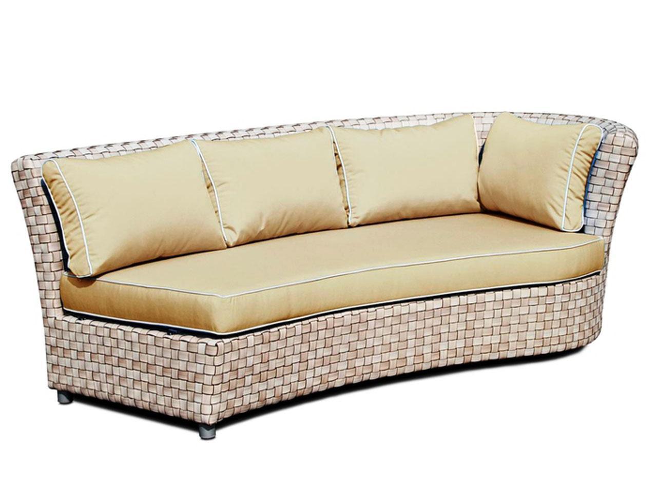 Плетеный левый диван Florence