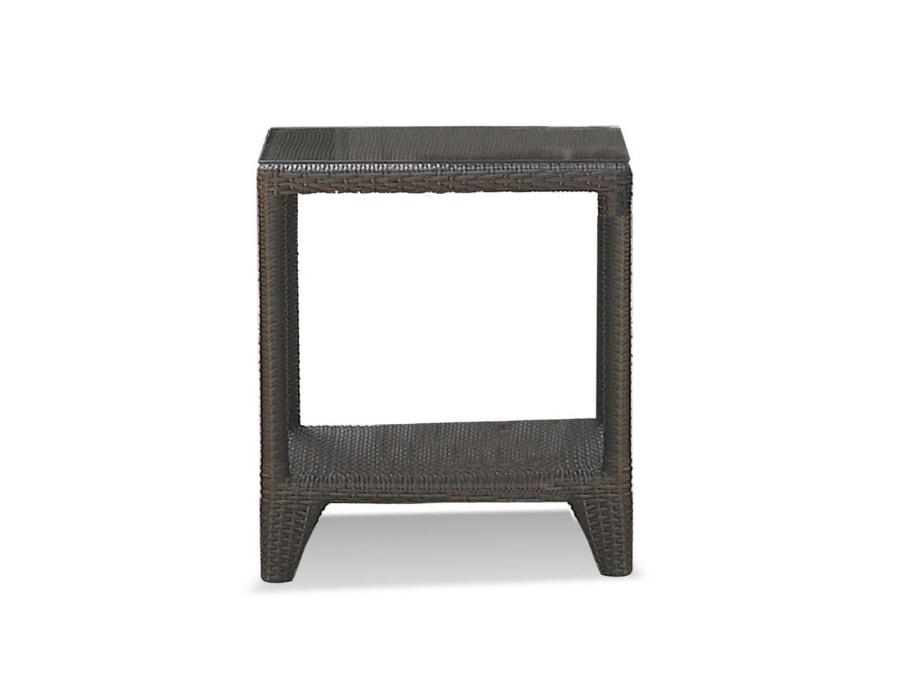 Стол плетеный со стеклом приставной Malta