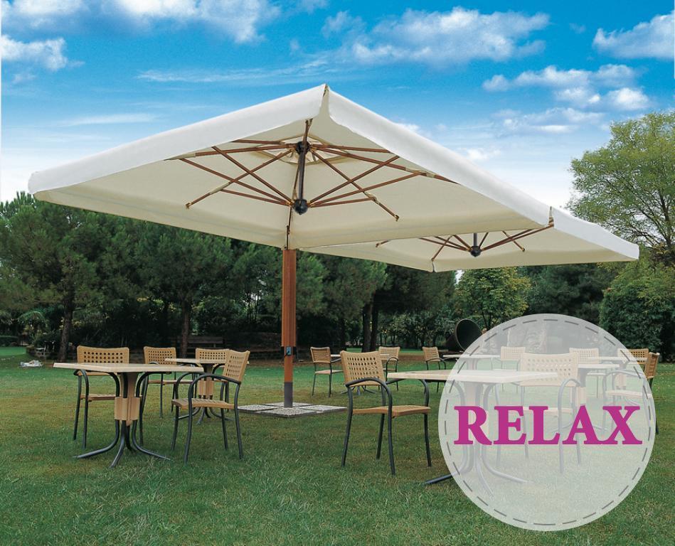 Зонт профессиональный двухкупольный Wood Double Relax