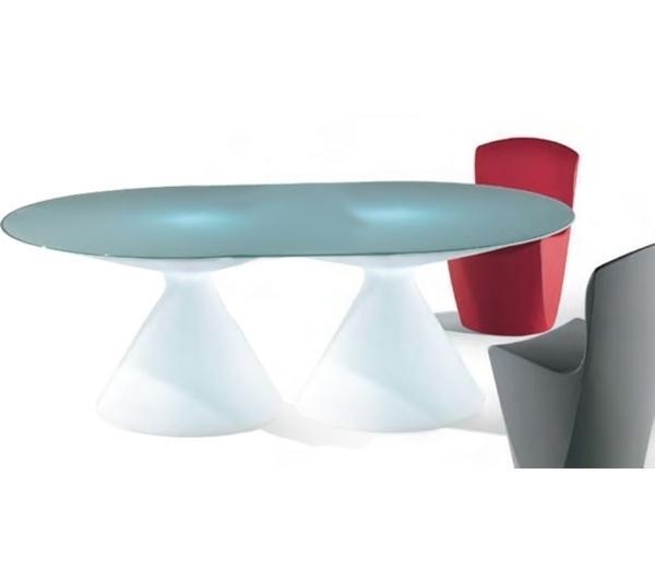 Стол пластиковый со стеклом светящийся Ed II Lighting