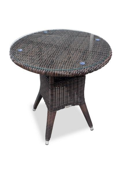 Стол плетеный со стеклом Warsaw