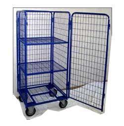 Тележка-стеллаж для перевозки и хранения белья с дверцей, ТБ 12.3