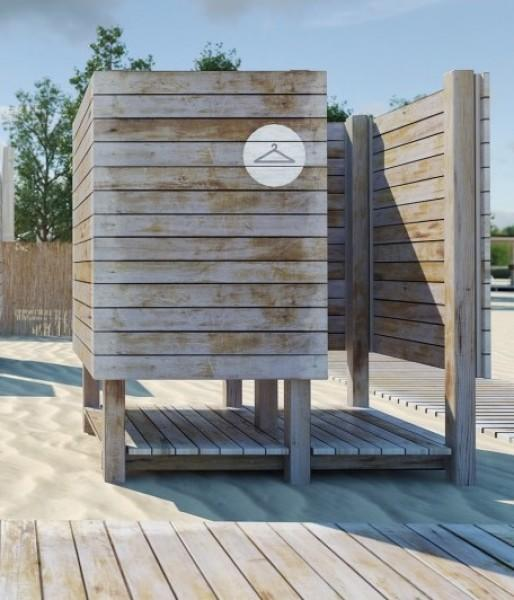 Кабинка пляжная одинарная Дюна севера