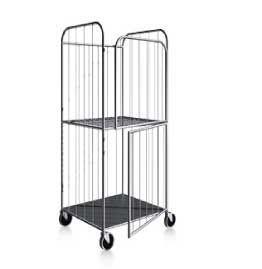 Тележка-стеллаж  для перевозки и хранения белья с дверцей, ТБ 12.2
