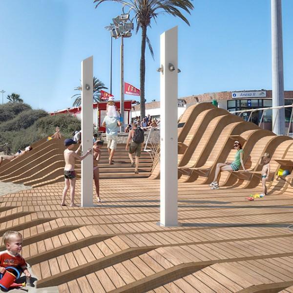 Пляжные деревянные настилы, подиумы. Деревянные пляжные изделия