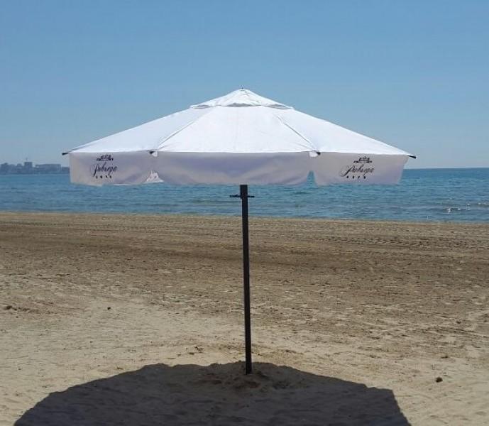 Пляжный зонт Буревестник. Пляжный круглый зонт диаметром 3,0 м шестиспицевый. 2021 г.
