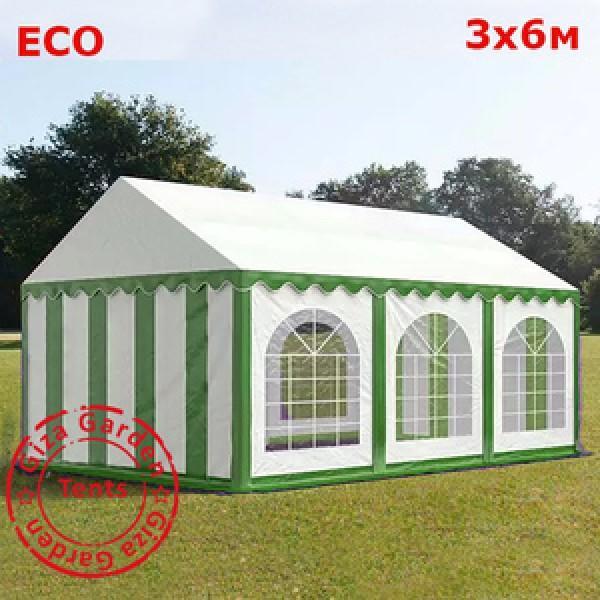 Шатер Giza Garden 3x6м бело- зеленый
