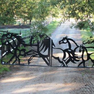 Изготовление ворот, заборов, решеток с элементами лазерной резки металла
